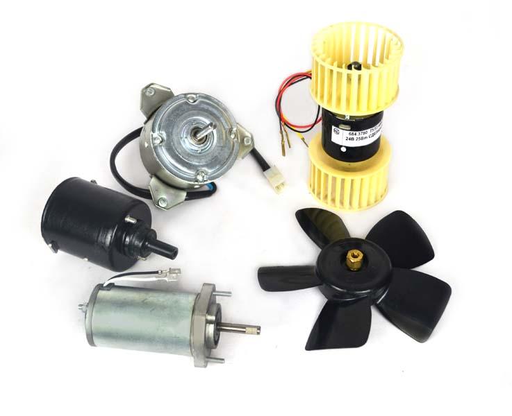 Электродвигатели отопителей и вентиляторов