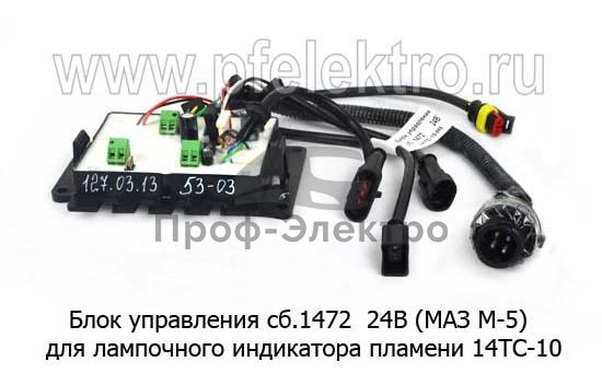 Блок управления (МАЗ М-5) для лампочного индикатора пламени 14ТС-10 (Адверс) 1