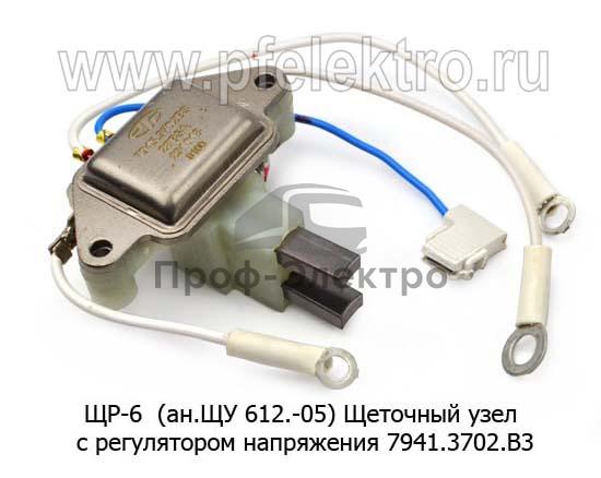 Щеточный узел с регулятором напряжения 7941.3702.В3 на ген.7762.3701-03, камаз Евро-3, МАЗ, УРАЛАЗ (Электромодуль) 1