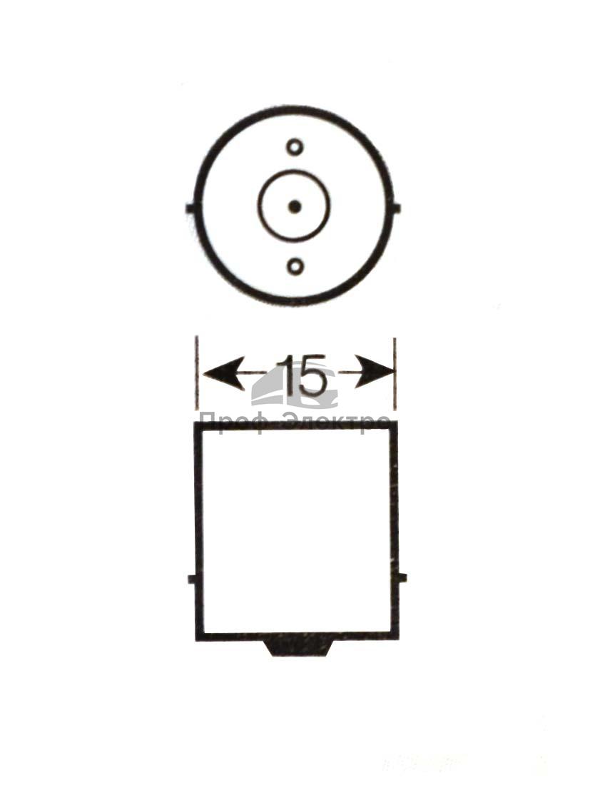 Автолампа светодиодная, к-т 2шт. (А12-5 BA15s) габарит, поворот, задний свет, все т/с 12В (К) 2