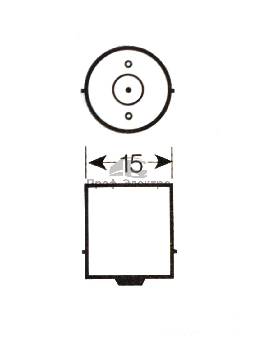 Автолампа светодиодная, к-т 2шт. (А12-21 BA15s) габариты, поворот, задний свет, все т/с 12В (К) 2