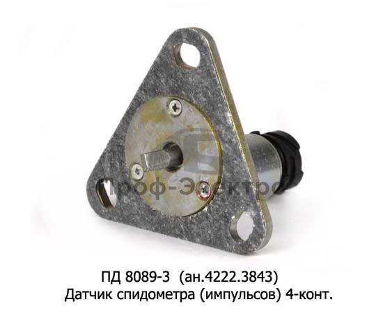 Датчик спидометра (импульсов) 4-конт., МАЗ, УРАЛ, камаз (ВЗЭП) 1
