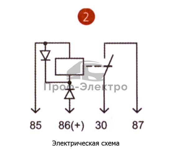 Реле бензонасоса 4-х контакт. с кронштейном, с диодной защитой для камаз, ПАЗ (АВАР) 0