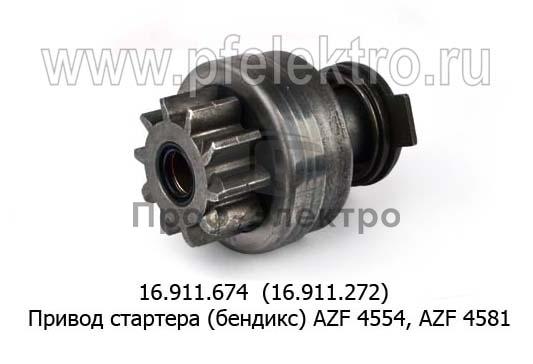 Привод стартера (бендикс) AZF 4554, AZF 4581 (ISKRA) 0