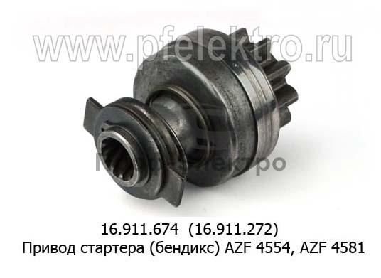 Привод стартера (бендикс) AZF 4554, AZF 4581 (ISKRA) 1
