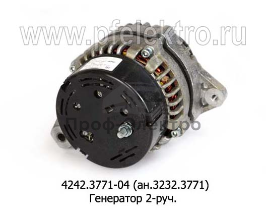 Генератор на ЯМЗ-236, ЯМЗ-238, для камаз-740, 2-руч. (Радиоволна) 2