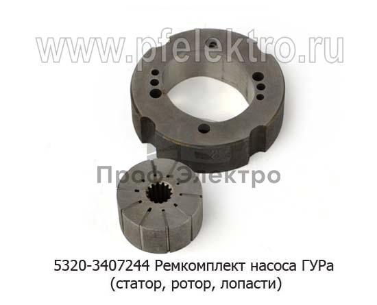 Ремкомплект насоса ГУРа (статор, ротор, лопасти) для камаз, зил-130, краз, лиаз, газ-66 (Борисов, АГУ) 1