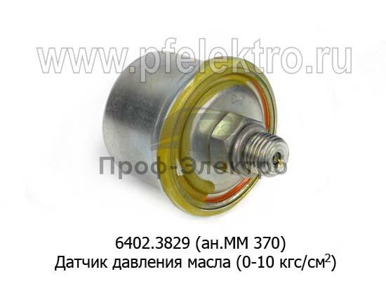 Датчик давления масла (0-10 кгс/см2) для камаз, урал, маз, лиаз (АП) 1