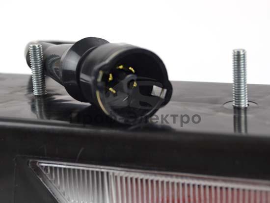 Фонарь задний четырехсекционный без габаритов, с подсветкой, ГАЗ, ЗИЛ, для камаз (Сакура) 2