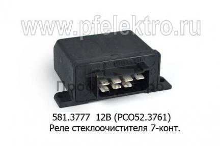 Реле стеклоочистителя для зил-5301, Бычок, газ-3307, -52, 7-конт. (ЭМИ)