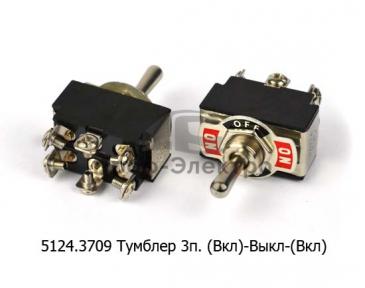 Тумблер 3п. (Вкл)-Выкл-(Вкл) нажимной, 2 полюса, 6 контактов, винт 24В/10А, 12В/20А (250В/5А) все т/с (К)