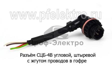 Разъём с жгутом проводов в гофре (ТрАС)