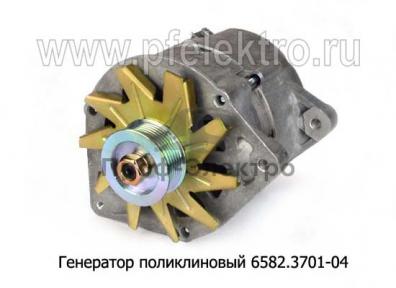 Генератор поликлиновый для камаз-53215,-55111,-65115 без ЭФУ (Евро-2) (АТЭ-1)