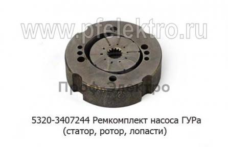 Ремкомплект насоса ГУРа (статор, ротор, лопасти) для камаз, зил-130, краз, лиаз, газ-66 (Борисов, АГУ)