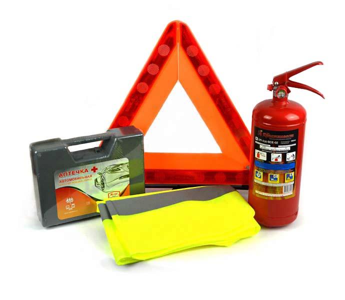 Аптечки, Огнетушители и Знаки аварийной остановки
